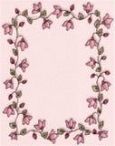 Rosafarbener Blumenfoto-Feld-Rand Lizenzfreies Stockbild