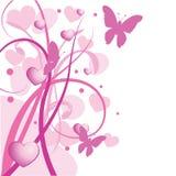 Rosafarbener Blumenfrühlingshintergrund Stockbilder