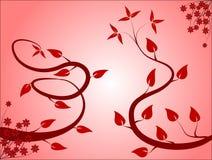 Rosafarbener Blumenhintergrund Stockfotografie