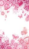 Rosafarbener Blumenhintergrund Lizenzfreie Stockfotos