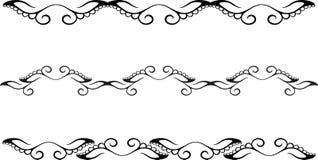 Rosafarbener Blumenrand vektor abbildung