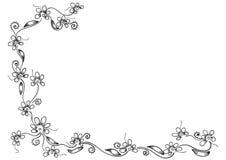 Rosafarbener Blumenrand Lizenzfreies Stockbild