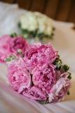 Rosafarbener Blumenstrauß Stockbild