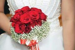 Rosafarbener Blumenstrauß der Braut Lizenzfreie Stockfotos