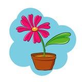 Rosafarbener Blumenvektor Stockfotos