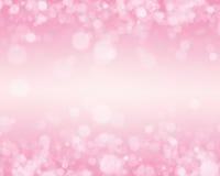 Rosafarbener Bokeh Hintergrund Stockfotografie