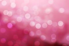Rosafarbener Bokeh Hintergrund Stockfoto