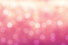 Rosafarbener Bokeh Hintergrund Stockfotos