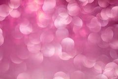 Rosafarbener Bokeh Hintergrund Der Hintergrund mit boke Abstrakte Beschaffenheit Lizenzfreie Stockbilder