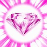 Rosafarbener Diamant Lizenzfreies Stockbild