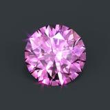 Rosafarbener Diamant Stockfotografie