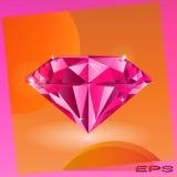 Rosafarbener Diamant vektor abbildung