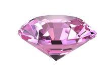Rosafarbener Diamant auf weißem Hintergrund Lizenzfreie Stockfotografie