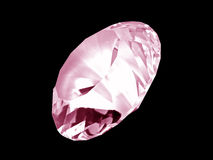 Rosafarbener Diamant-Kristall (Frontseite) Lizenzfreie Stockfotografie