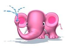 Rosafarbener Elefant Stockbilder