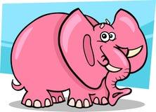 Rosafarbener Elefant-Karikatur Lizenzfreie Stockfotografie