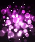 Rosafarbener Faseroptikeffekthintergrund Stockfotos