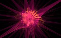 Rosafarbener Fractal Stockbilder