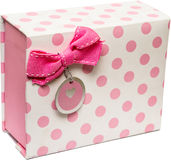 Rosafarbener Geschenk-Kasten Lizenzfreies Stockfoto
