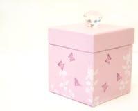 Rosafarbener Geschenk-Kasten Stockfoto
