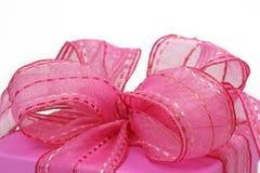 Rosafarbener Geschenkkasten Stockbild