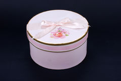 Rosafarbener Geschenkkasten lizenzfreies stockfoto