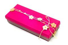 Rosafarbener Geschenkkasten Stockfoto