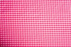 Rosafarbener Gingham-Hintergrund Stockbilder