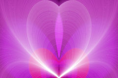 Rosafarbener glühender wellenförmiger Hintergrund vektor abbildung