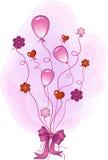 Rosafarbener Glückwunsch Stockbild