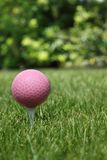 Rosafarbener Golfball Stockfotos