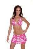 Rosafarbener Hibiscus-Bikini Lizenzfreie Stockbilder