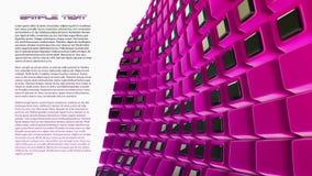 Rosafarbener Hintergrund der Abstraktion 3d Stockfoto