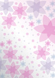 Rosafarbener Hintergrund mit Blumen Lizenzfreie Stockfotos