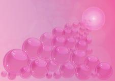 Rosafarbener Hintergrund mit Luftblasen Lizenzfreie Stockfotos