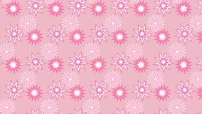 Rosafarbener Hintergrund mit Sternen Stockfotos