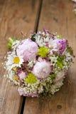 Rosafarbener Hochzeitsblumenstrauß Lizenzfreies Stockbild