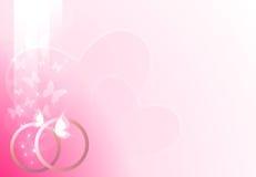 Rosafarbener Hochzeitshintergrund Stockfotos