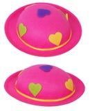 Rosafarbener Hut Stockbild