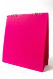 Rosafarbener Kalender Stockbild