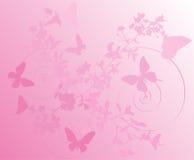 Rosafarbener Kirschbaum blüht Hintergrund stock abbildung