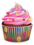 Rosafarbener kleiner Kuchen Lizenzfreie Stockfotografie