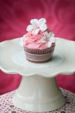 Rosafarbener kleiner Kuchen Stockbilder