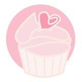 Rosafarbener kleiner Kuchen stock abbildung