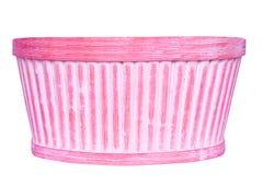 Rosafarbener Korb Lizenzfreie Stockbilder