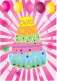 Rosafarbener Kuchen Stockfoto
