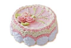 Rosafarbener Kuchen Stockbilder