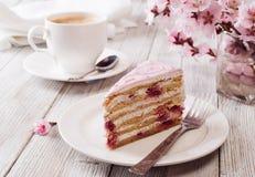 Rosafarbener Kuchen stockfotografie