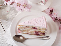 Rosafarbener Kuchen lizenzfreies stockbild