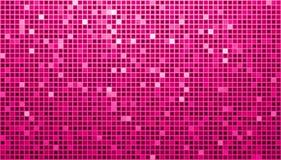 Rosafarbener Ladys Disco-Matrix-Hintergrund Lizenzfreies Stockfoto